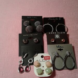 Jewelry - Lot of 7 Pairs of Fashion Earrings Assorted Brands